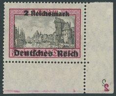 Dt. Reich 729 **, 1939, 2 RM Danzig, Untere Rechte Bogenecke Mit 2 Spiegelverkehrten Platten-Nummern 2, Normale Zähnung, - Deutschland