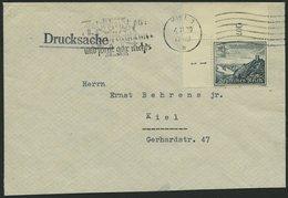 Dt. Reich 731 BRIEF, 1939 4 Pf. Drachenfels, Linke Obere Bogenecke Mit Form-Nr. 1 Auf Orts-Drucksache, Feinst, R! - Deutschland