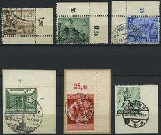 Dt. Reich 739/40,42-45 O,BrfStk , 1939/40, 6 Bogenecken, Pracht - Deutschland
