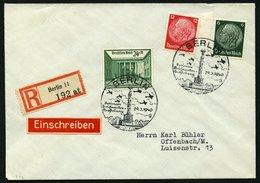 Dt. Reich 743 BRIEF, 1940, 24 Pf. Briefmarkenausstellung Mit Zusatzfrankatur Auf Einschreibbrief, Sonderstempel Vom 29.3 - Deutschland