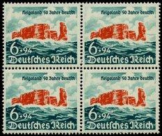 Dt. Reich 750 VB **, 1940, 6 Pf. Helgoland Im Viererblock, Pracht, Mi. 120.- - Deutschland