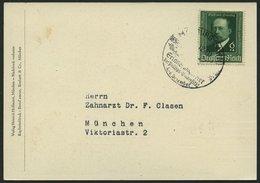 Dt. Reich 760III BRIEF, 1940, 6 Pf. Von Behring Mit Abart Dunkler Fleck Auf Der Rechten Wange, Mit Sonderstempel Auf Son - Deutschland