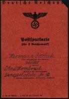 Dt. Reich 787 BrfStk, 1941, Postsparkarte (geteilt, Ränder Verkürzt), Frankiert Mit 40x 10 Pf. Hitler, Feinst - Deutschland