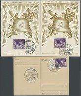Dt. Reich 811 BRIEF, 1942, 6 Pf. Tag Der Briefmarke, 3 Ersttagsbelege Mit Verschiedenen Sonderstempeln, Pracht - Deutschland