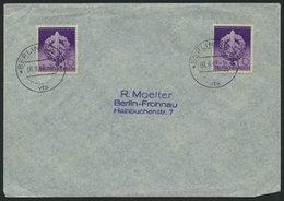 Dt. Reich 818 BRIEF, 1942, 6 Pf. Wehrkampftage, 2x Auf Umschlag Mit Ersttags-Sonderstempeln, Pracht, Mi. 90.- - Deutschland