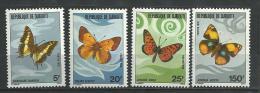 """Djibouti YT 477 à 480 """" Papillons """" 1978 Neuf** - Djibouti (1977-...)"""