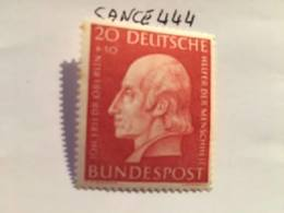 Germany Welfare J. Oberlin Philanthropist 1954 Mnh - Unused Stamps