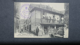 Cachet Hopital Auxiliaire N° 94 Paris Rue Lafayette Sur CPA Animée Paris Passage Moret - Marcophilie (Lettres)