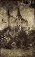 Artiste Cp Spányi, Béla, Budapest Ungarn, Vajda Hunyad Castle, General View - Hongrie