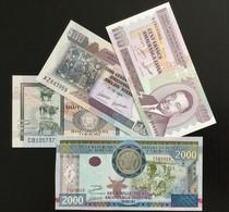 BURUNDI SET 100 500 1000 2000 FRANCS BANKNOTES 2008-2011 UNC - Burundi