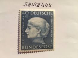 Germany Welfare B. Pappenheim Feminist 1954 Mnh - Unused Stamps