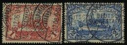 DSWA 20/1 O, 1901, 1 M. Rot Und 2 M. Schwärzlichblau, Ohne Wz., 2 Prachtwerte, Mi. 83.- - Kolonie: Deutsch-Südwestafrika