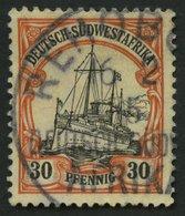 DSWA 28x O, 1911, 30 Pf. Dunkelorange/gelbschwarz Auf Chromgelb, Mit Wz., Pracht, Mi. 65.- - Kolonie: Deutsch-Südwestafrika