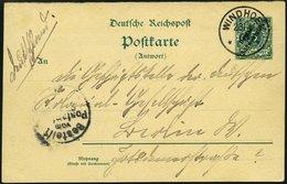 DSWA P 11A BRIEF, 1900, 5 Pf. Antwortteil Von WINDHOEK Von Oblt. Fritsche In Omaruru Nach Berlin, Pracht - Kolonie: Deutsch-Südwestafrika