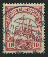 DSWA 26 O, EKUJA, Zentrisch Auf 10 Pf. Karminrot, Pracht - Kolonie: Deutsch-Südwestafrika