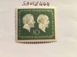Germany Ehrlich Behring Physician 1954 Mnh - [7] Federal Republic