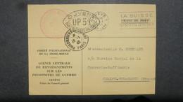 Rare Obliteration Prisonniers De Guerre Paris 1940 ( Janvier ) Sur Formulaire Comite Croix Rouge Genève Pour Chalon / S. - Storia Postale