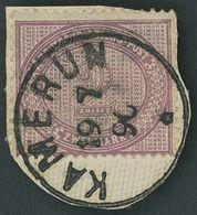 KAMERUN V 37d BrfStk, 1890, 2 M. Lebhaftgraulila, Stempel KAMERUN Auf Leinenbriefstück, Pracht, Gepr. W. Engel - Kolonie: Kamerun