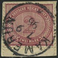 KAMERUN V 37e BrfStk, 1896, 2 M. Dunkelrotkarmin, Stempel KAMERUN, Postabschnitt, Pracht - Kolonie: Kamerun