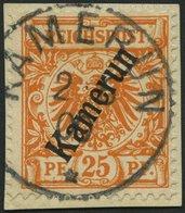 KAMERUN 5b BrfStk, 1899, 25 Pf. Dunkelorange, Prachtbriefstück, Mi. (120.-) - Kolonie: Kamerun
