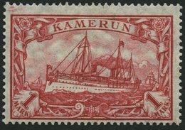 KAMERUN 24IIA *, 1919, 1 M. Dunkelkarminrot, Mit Wz., Kriegsdruck, Gezähnt A, Falzreste, Pracht, Mi. 150.- - Kolonie: Kamerun