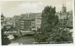 Nürnberg 1931; Pegnitzpartie. Blick Zur Muesum Und Fleischbrücke - Gelaufen. (Ludwig Riffelmacher - Fürth) - Nürnberg