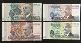 CAMBODIA SET 1000 2000 10000 20000 RIELS BANKNOTES 2012-2017 UNC Commemorative - Cambodia