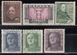 1945   Edifil Nº  989, 998, 999 / 1001, 1011,    MNH. - 1931-50 Nuevos & Fijasellos