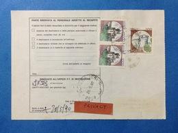 ITALIA CASTELLO 500 LIRE + COPPIA 1000 SU BOLLETTINO PACCHI DEL 1990 - 6. 1946-.. Repubblica