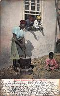 CABO VERDE AFRICA~MULHERES PREPARANDO O MILHO~HASTNGS AUTY SERIES 1905 POSTCARD 40960 - Cape Verde