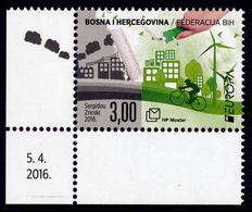 """BOSNIA/Bosnien Kroatische Mostar, EUROPA 2016 """"Think Green"""" Set Of 1v** - Europa-CEPT"""
