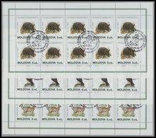 MOLDAVIEN 158-60KB O, 1995, Naturschutzjahr In Kleinbogen, Pracht, Mi. 150.- - Moldawien (Moldau)