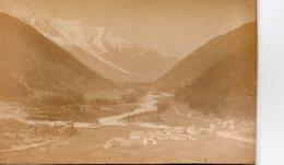 Photo Ancienne Sur Carton - Argentières,vue Sur La Vallée De Chamonix Et Le Mont Blanc ( Dim 16x10 Cm) - Photos