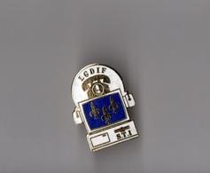 Pin's Police / LGDIF Légion De Gendarmerie Départementale D'Ile-de-France STI (EGF Doré) Hauteur: 2,6 Cm - Police