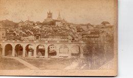 Photo Ancienne Sur Carton - Lausanne, La Cathédrale , Le Grand Pont ( Dim 16x10 Cm) - Antiche (ante 1900)