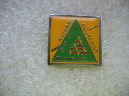 Pin's Aviere Billard Club De La Ville De DARNIEULLES (Dépt 88) - Billard