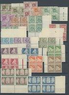 ALGERIEN 34-57 VB **, 1926, Landesansichten In Viererblocks, Postfrischer Prachtsatz - Algerien (1962-...)