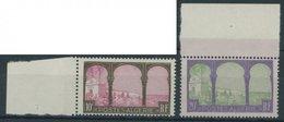 ALGERIEN 85/6 **, 1927, 10 Fr. Braun/lilarot Und 20 Fr. Lila/hellgrün Auf Lila, Postfrisch, Pracht - Algerien (1962-...)