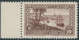 ALGERIEN 101C **, 1930, 10 Fr. Briefmarkenausstellung, Gezähnt C, Postfrisch, Pracht - Algerien (1962-...)