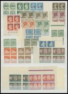 ALGERIEN VB **, 1924-47, Partie Von 76 Verschiedenen Postfrischen Viererblocks, Mit Portomarken, Prachterhaltung - Algerien (1962-...)