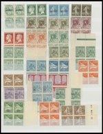 ALGERIEN VB **, 1924-27, Partie Von 37 Verschiedenen Postfrischen Viererblocks, Mit Portomarken, Prachterhaltung - Algerien (1962-...)
