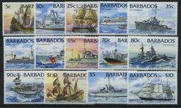 BARBADOS 856-69 **, 1994, Schiffe, Prachtsatz (14 Werte) - Barbados (1966-...)