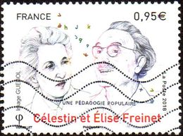 Oblitération Moderne Sur Timbre De France N° 5269 - Célestin Et Élise Freinet - France