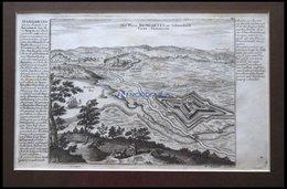 Damgarten, Kupferstichplan Und Ansicht Mit Seitlicher Beschreibung Von Bodenehr Um 1720 - Sin Clasificación