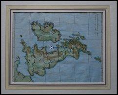 Grossbritannien Und Irland, Blindkarte, Kolorierter Kupferstich Von Güssefeld, Weimar 1803 - Sin Clasificación