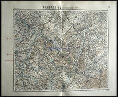Der Nordöstliche Teil, Handschriftliche Bemerkungen Auf Der Karte, Grenzkolorierter Stahlstich Aus Meyers Hand-Atlas, 18 - Sin Clasificación