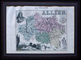 Departement Allier Mit Teilansicht Von Saint Pourcain Und Dekorativer Personenstaffage, Farbiger Stahlstich Von M. Vuill - Sin Clasificación