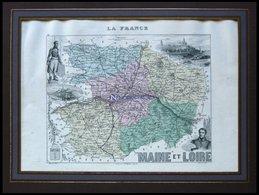 Departement Maine-et-Loire Mit Gesamtansicht Von St. Florent Und Dekorativer Personenstaffage, Farbiger Stahlstich Von M - Sin Clasificación