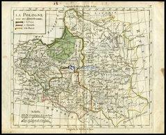 Generalkarte, La Pologne, Grenzkolorierter Kupferstich Aus Delamarché Petit Atlas Um 1785 - Sin Clasificación