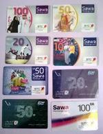 Lot Numéro 2 De Cartes Prepayées D'Arabie Saoudite. - Saoedi-Arabië